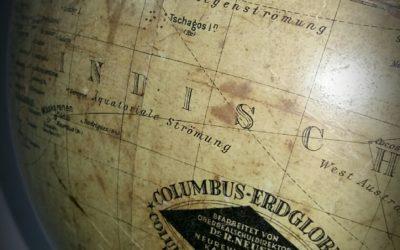 Globe Terrestre fin XIXème Allemagne