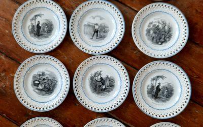 Assiettes Porcelaine Opaque Creil & Montereau