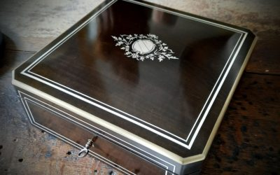 Coffret à Bijoux Marqueterie Napoléon III