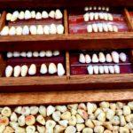 Coffret bois prothéses dentaires - esprit brocante hermin