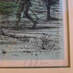 Estampe épreuve sur japon Jean Carzou Le Château 1978 - esprit brocante hermin