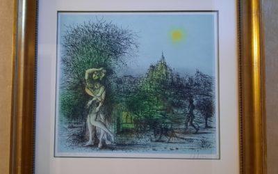 Estampe Jean Carzou (1907-2000) Le Château