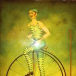 Fixé sous verre - Vélocipède MICHAUX - esprit brocante 62
