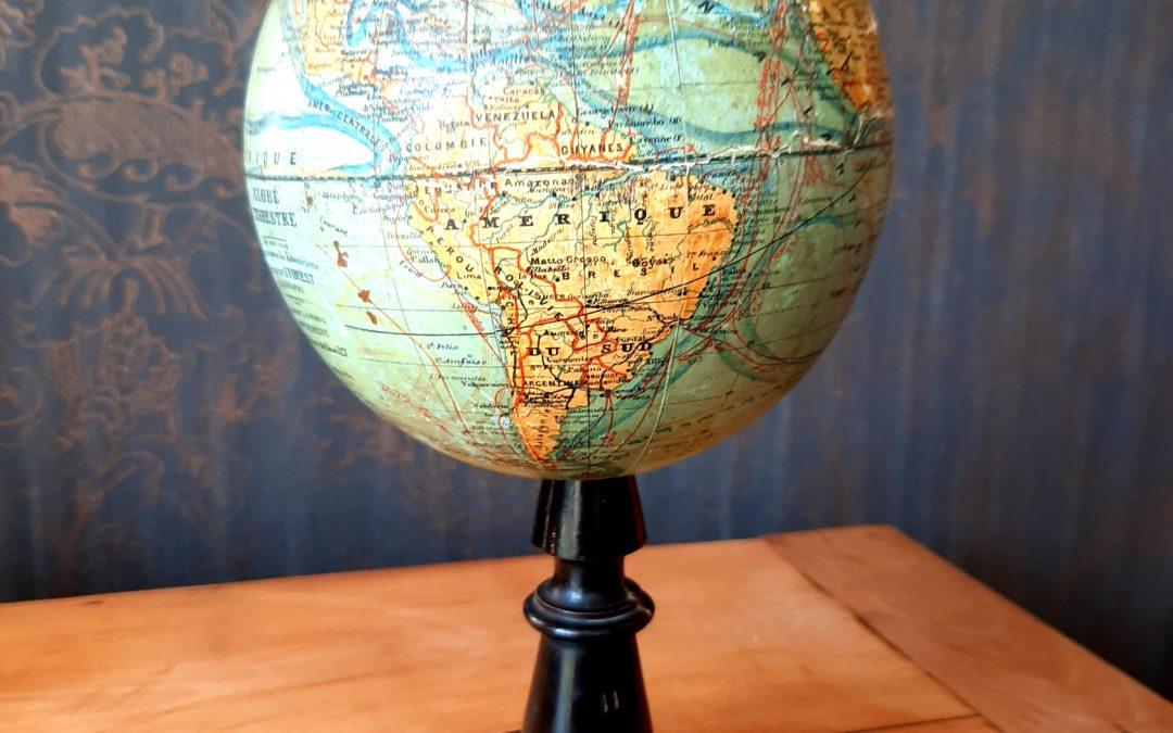 Globe Terrestre J. Forest Napoléon III