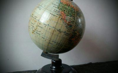 Globe Terrestre 1950 Dr Krause R.D.A.