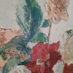 Huile sur toile de Jacques Denier - esprit brocante hermin