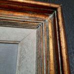 Huile sur toile par Germaine Lantoine Neveu - esprit brocante hermin