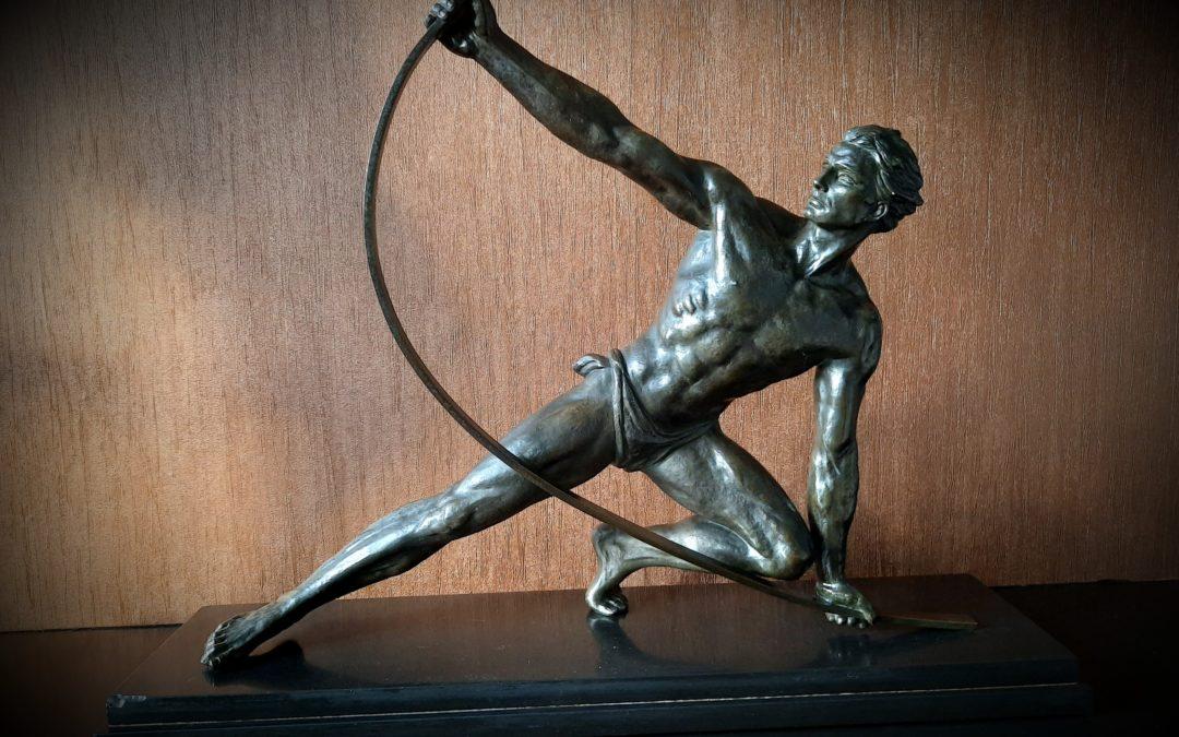 Sculpture Art Déco Régule Jean de Roncourt