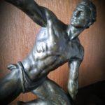 Sculpture Jean de Roncourt régule et marbre noir - esprit brocante hermin