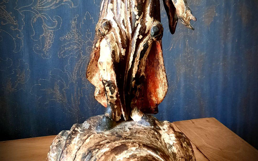 Sculpture Bois Polychrome XVIIème