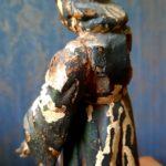 Sculpture bois polychrome XVIIIème - esprit brocante hermin