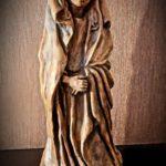 Statue de la vierge en pierre signée - esprit brocante hermin