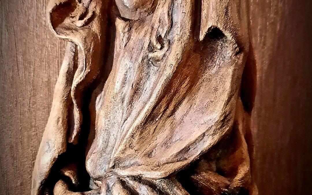 Art Populaire – Statue Vierge Signée XXème