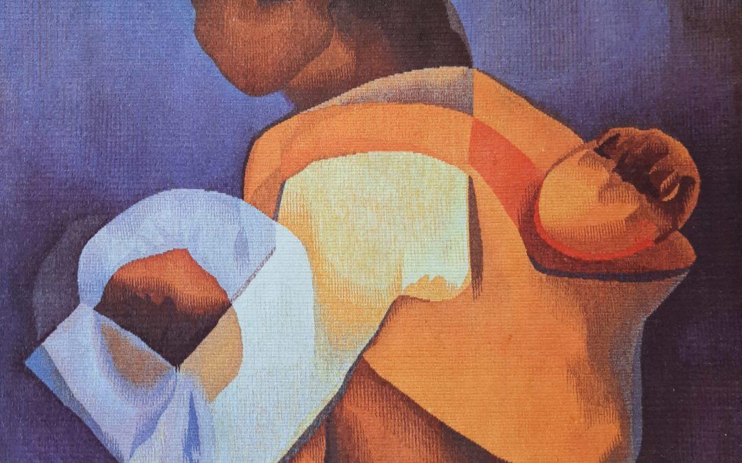 Tapisserie Louis Toffoli (1907-1999) La Maternité